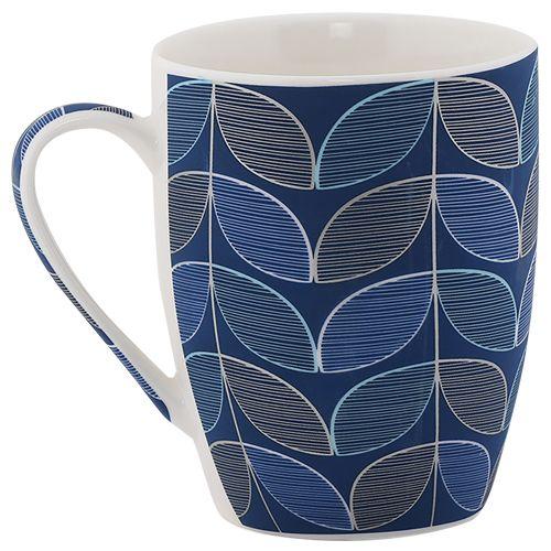 Rslee Coffee-Tea-Milk Mug - Petal Print, Blue, 275 ml