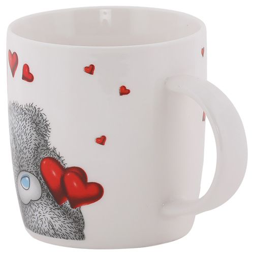 Rslee Coffee-Tea-Milk Mug - Teddy Bear, Hearts Print, 300 ml