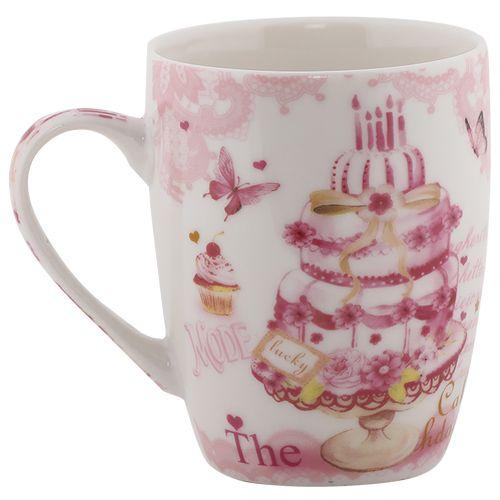 Rslee Coffee-Tea-Milk Mug - Cake Print, 275 ml