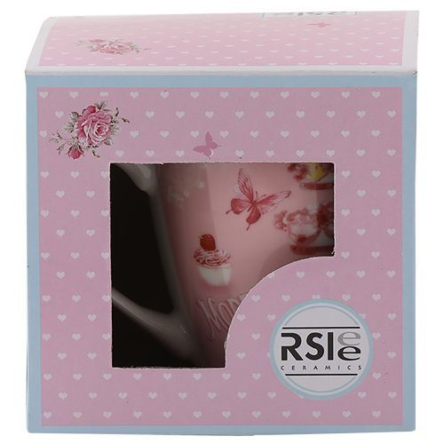 Rslee Coffee-Tea-Milk Mug - Three-Tier Birthday Cake Print, 275 ml