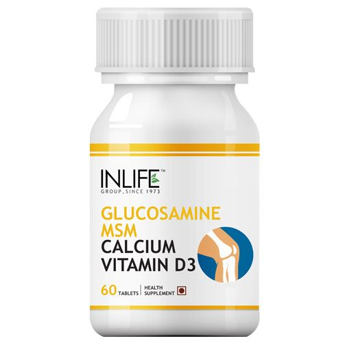 Inlife Supplement - Glucosamine MSM Calcium & Vitamin D3, For Joint Care, 60 Tablets