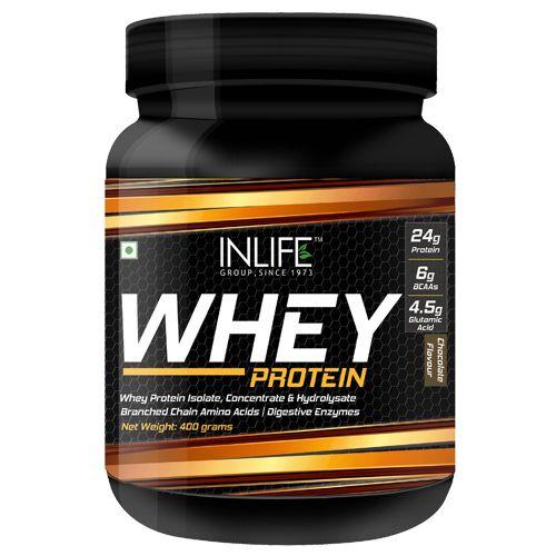 Inlife Supplement - Whey Protein Powder, Chocolate Flavour, 400 gm