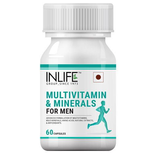 Inlife Supplement - Multivitamins & Minerals, Amino Acids & Antioxidants, For Men, 60 Capsules