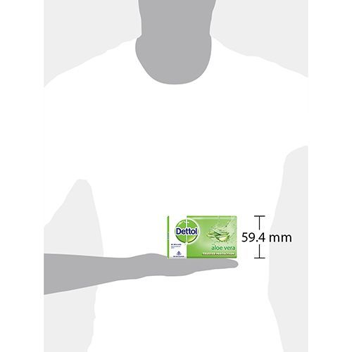 Dettol Bathing Bar Soap - Aloe Vera, 100 gm Pack Of 3
