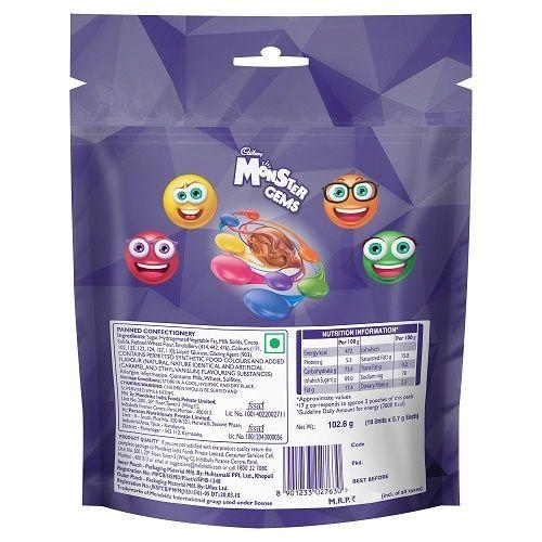 Cadbury Gems Chocolate - Monster, Home Pack, 102.6 gm