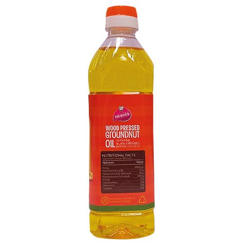 Pasumark Oil - Groundnut, Chekku, Mara, 500 ml Pet Bottle
