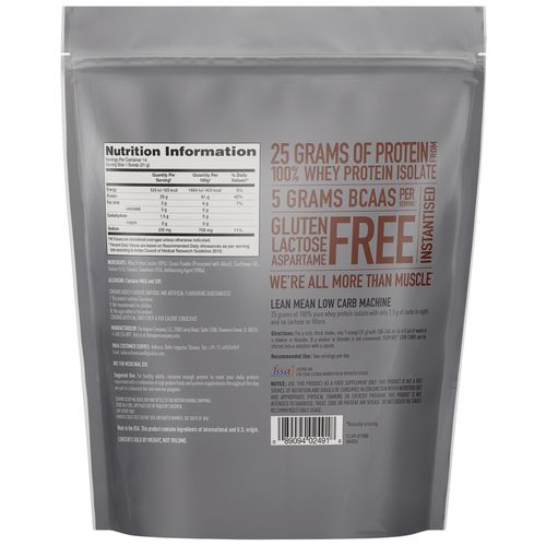 Isopure Whey Protein Powder - 100% Isolate, Chocolate, Low Carb, 1 lb Pouch