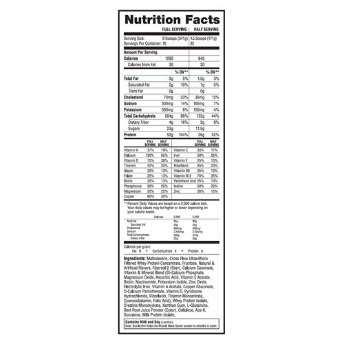 Labrada Dietary Supplement - Muscle Mass Gainer, Chocolate, 5.90 kg