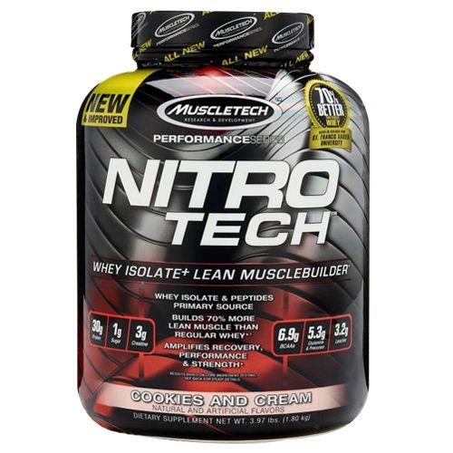 Muscletech Dietary Supplement - Performance Series, Nitrotech, Cookies & Cream, 1.81 kg