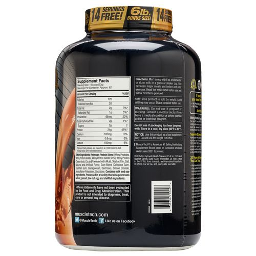 Muscletech Dietary Supplement - Performance Series, Nitrotech Whey Gold Double Rich Chocolate, 2.51 kg