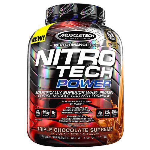 Muscletech Dietary Supplement - Performance Series, Nitrotech Power, Triple Chocolate Supreme, 1.81 kg