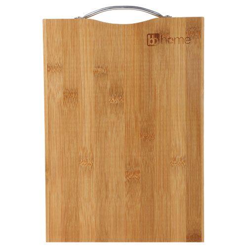 Bb Home Chopping Cutting Board Bamboo Wood Steel Handle Bh 041 1 Pc