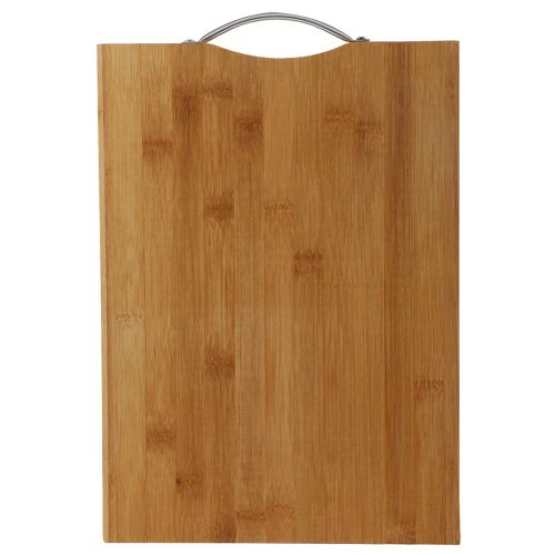 BB Home Chopping-Cutting Board - Bamboo Wood, Steel Handle, BH 043, 1 pc