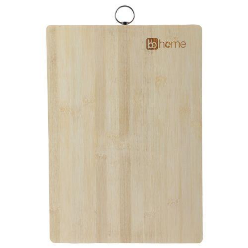 BB Home Chopping-Cutting Board - Bamboo Wood, Steel Handle, BH 044, 1 pc