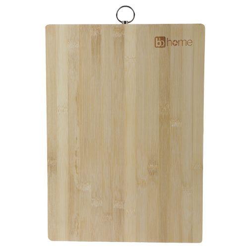 BB Home Chopping-Cutting Board - Bamboo Wood, Steel Handle, BH 045, 1 pc
