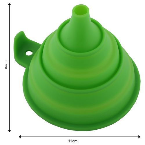 DP Silicone Collapsible Funnel - Dark Green BB 144 4, 1 pc