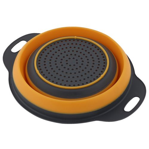 DP Yellow-Navy Blue Silicone Strainer - Big BB 630, 1 pc