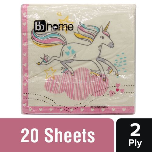 BB Home Paper Napkins - Unicorn, 20 Pulls