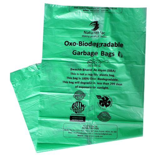 NaturePac Garbage Bag - Small, Green, Biodegradable, 30 pcs