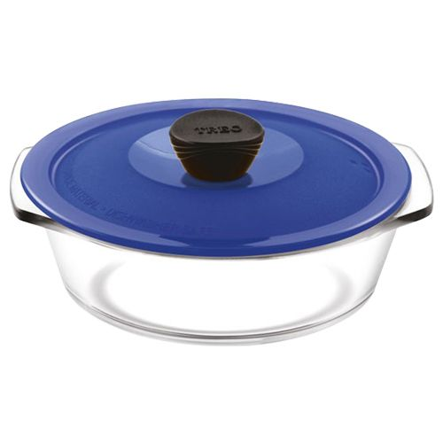 Treo Casserole - With Microwavable Lid, Round, Borosilicate, 750 ml