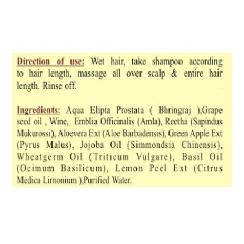 Continent Spice Khadi Wine Grape Shampoo - SLS & Paraben Free, 210 ml