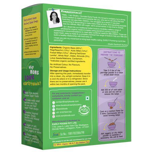 Early Foods Organic - Sattu Maavu Multi-Grain Porridge Mix, 200 g