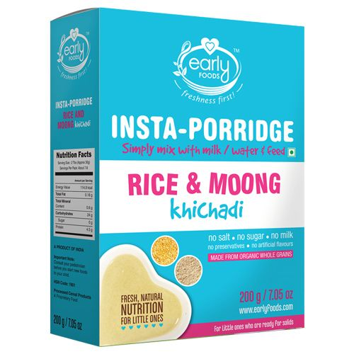 Early Foods Organic - Instant Rice & Moong Khichdi Mix, 200 g