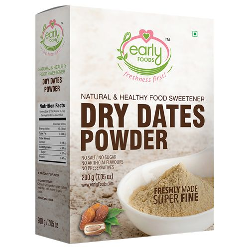 Early Foods Dry Dates Powder - Natural Sweetener For Little Ones & Kids, 200 g