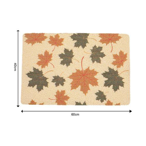 DP Door Mat - Multicolour, Maple Leaves Print MC BB 567_ 8, 1 pc