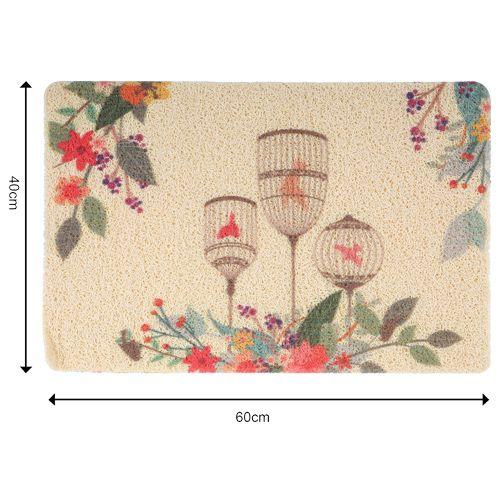 DP Door Mat - Multicolour, Cage Print MC BB 567_ 10, 1 pc