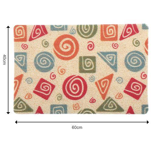 DP Door Mat - Multicolour, Shapes Print MC BB 567_ 11, 1 pc