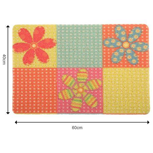 DP Door Mat - Multicolour, Flower Print MC BB 567_ 13, 1 pc