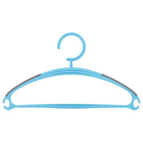 DP Clothes-Accessories Hanger - Plastic, Blue - Blue BB 587 1, 5 pcs