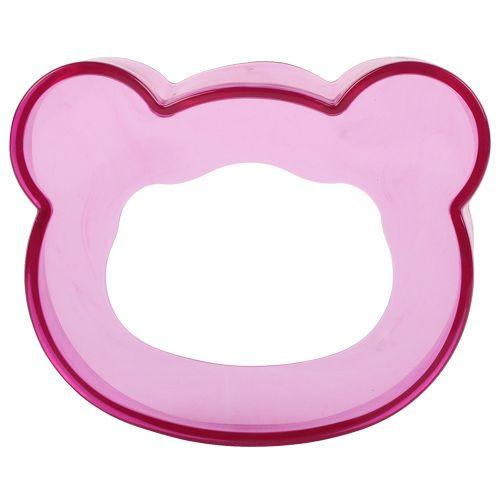 Fortunate Sponge Soap Dish-Case-Holder - Teddy, Plastic, Pink - PK BB 607, 1 pc