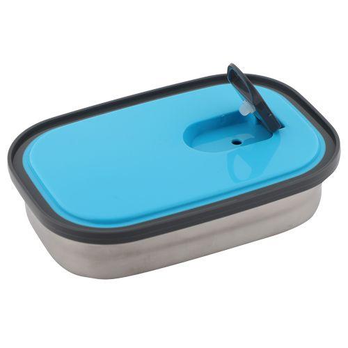 Homio Lunch Box-Tiffin Set - Stainless Steel,Blue, Rectangular Blue BB 571 1, 3 pcs