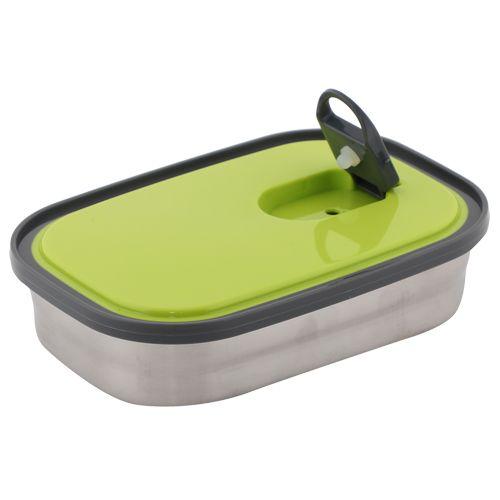 Homio Lunch Box-Tiffin Set - Stainless Steel,Green, Rectangular Gr BB 571 2, 3 pcs