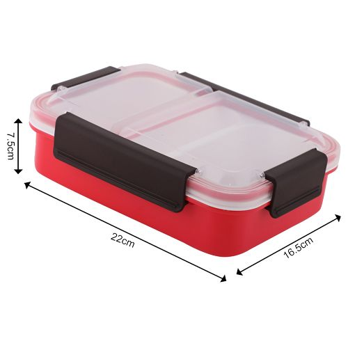 Homio Lunch Box - Plastic, Red - Red  BB BB 579 3, 1 L