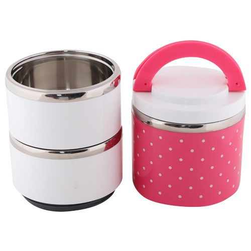 Mei Lunch Box-Tiffin Set - Stainless Steel,Pink - PK BB 576 1, 1.23 L
