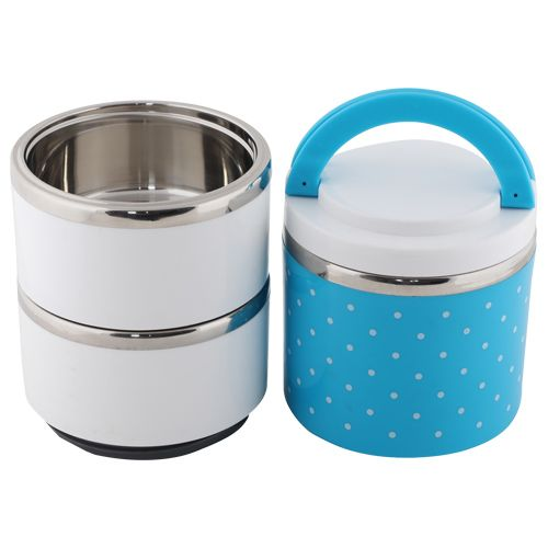 Mei Lunch Box-Tiffin Set - Stainless Steel,Blue - Blue BB 576 2, 1.23 L