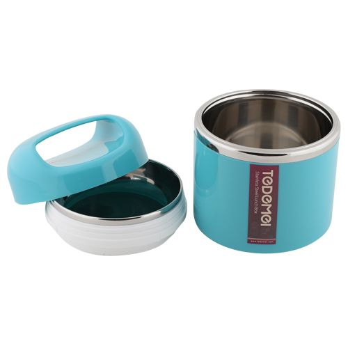 Tedemei Lunch Box-Tiffin Set - Stainless Steel,Blue - Blue BB 573 2, 830 ml