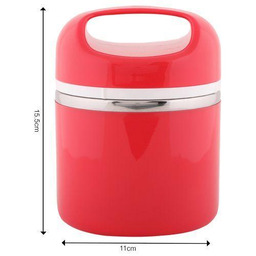 Tedemei Lunch Box-Tiffin Set - Stainless Steel,Red - RedBB 573 3, 830 ml