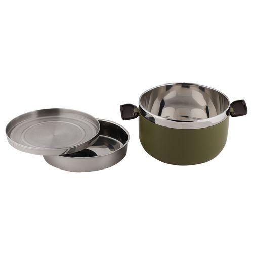 Tedemei Lunch Box-Tiffin Set - Stainless Steel, Green - Gr BB 574 1, 1 L