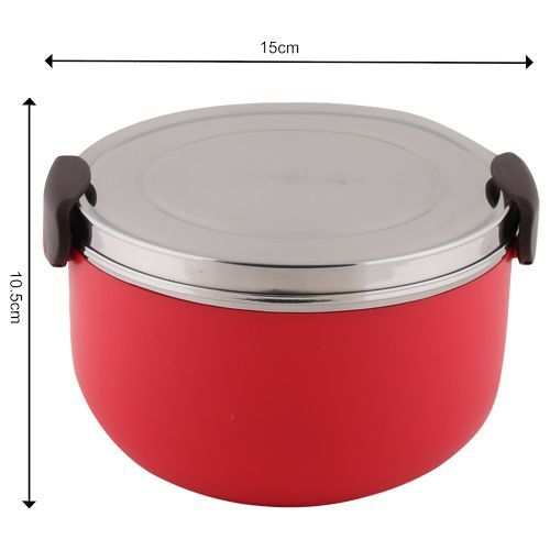 Tedemei Lunch Box-Tiffin Set - Stainless Steel,Red - Red BB 574 2, 1 L