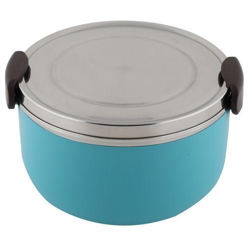 Tedemei Lunch Box-Tiffin Set - Stainless Steel,Blue - Blue BB 574 3, 1 L