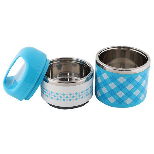 Tedemei Lunch Box-Tiffin Set - Stainless Steel,Blue - BlueBB 575 2, 930 ml