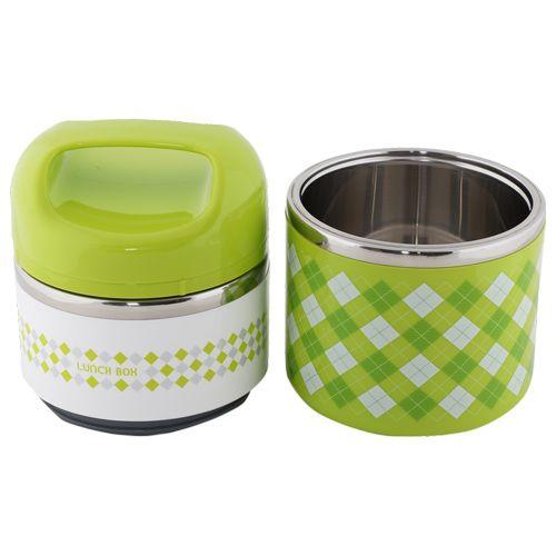 Tedemei Lunch Box-Tiffin Set - Stainless Steel,Green - Gr BB 575 3, 930 ml