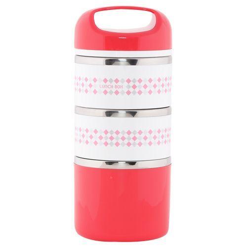 Tedemei Lunch Box-Tiffin Set - Stainless Steel,Red - RedBB 577 2, 1.43 L