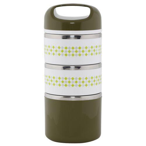 Tedemei Lunch Box-Tiffin Set - Stainless Steel,Olive GreenOlv Gr BB 577 3, 1.43 L