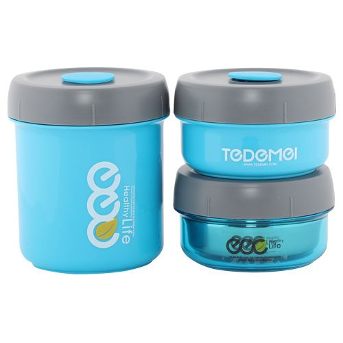 Tedemei Lunch Box-Tiffin Set - Stainless Steel,Blue - Blue BB 578 1, 3 pcs