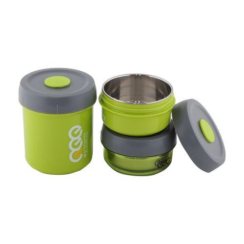 Tedemei Lunch Box-Tiffin Set - Stainless Steel,Green - Gr BB 578 3, 3 pcs